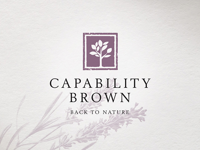 Capability Brown — Back to Nature logo