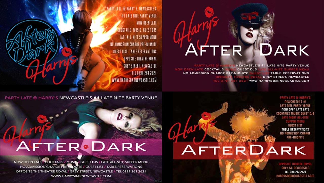 After Dark event promotion flyers