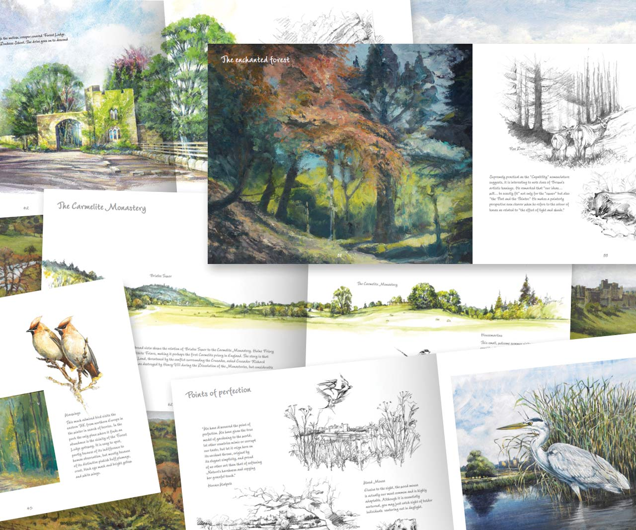 'Alnwick Parks' sketchbook inner pages