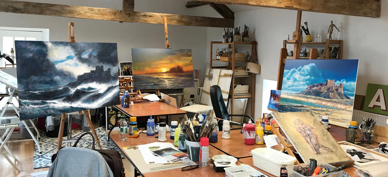 Peter Phillips' Kirkharle studio