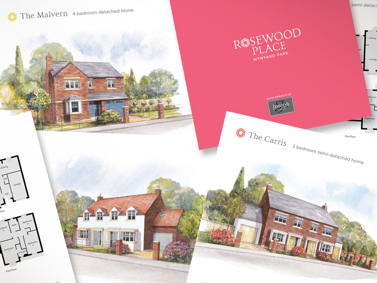 Sample pages from the Rosewood Place sales brochure