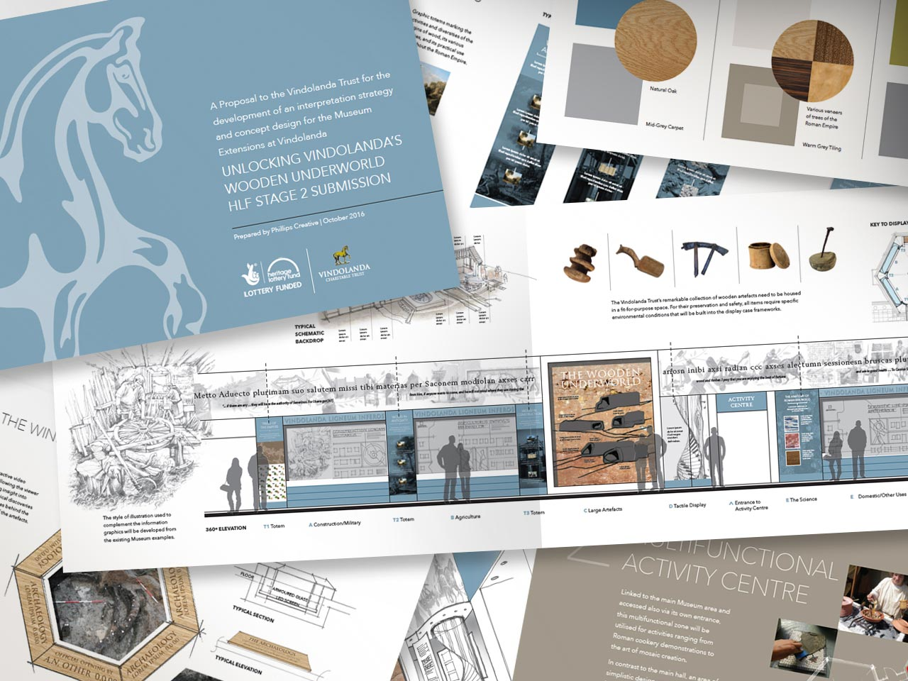 sample pages from the initial museum extension proposal