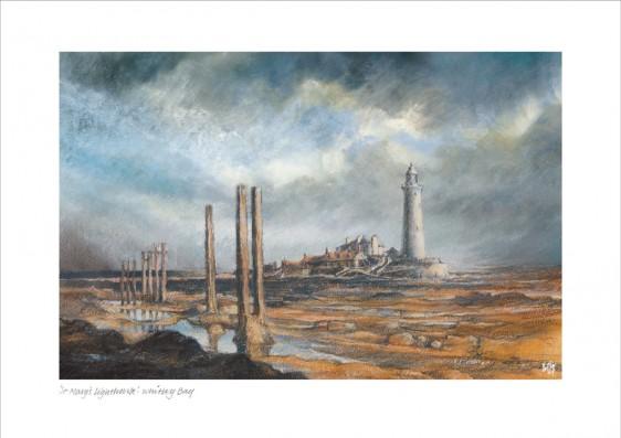 St Marys Lighthouse Night Sky   Phillips Art